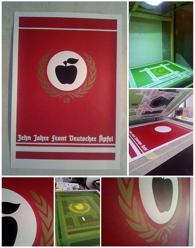 Apfelfront_Siebdruck_Poster